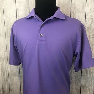 Footjoy M Purple Short Sleeve Golf Polo Shirt